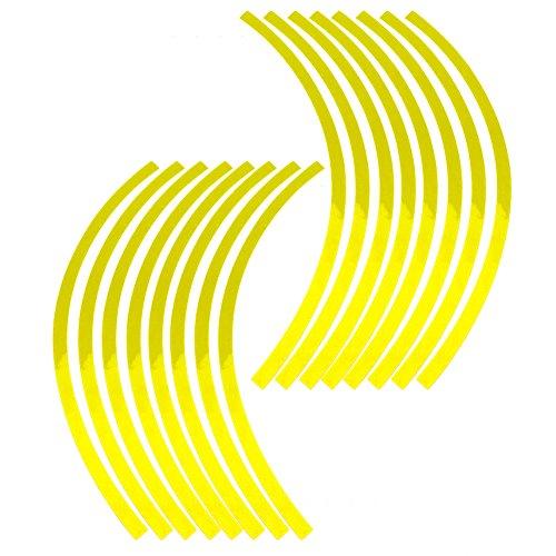 Elerose Ribete borde raya 16 ruedas Adornos automóviles