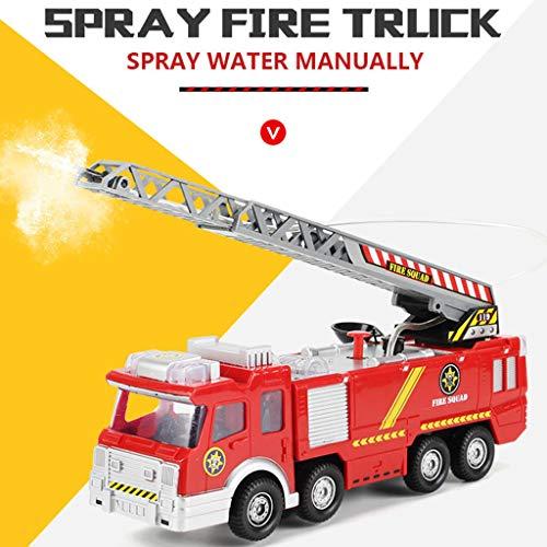 TianranRT Wasser Lichter N Geräusche Feuer LKW Spielzeug Rettung Fahrzeug Geschenk für Kinder