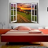 murando - 3D WANDILLUSION 140x100 cm Wandbild - Fototapete - Poster XXL - Fensterblick - Vlies Leinwand - Panorama Bilder - Dekoration - Natur Landschaft c-B-0208-c-a
