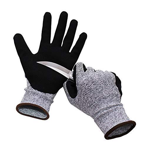 Yxmxxm guanti resistenti al taglio protezione di livello 5, guanti da cucina da cucina, guanti da lavoro di sicurezza per ostrica shucking/sculture in legno/taglio di carne, 2 paia,m