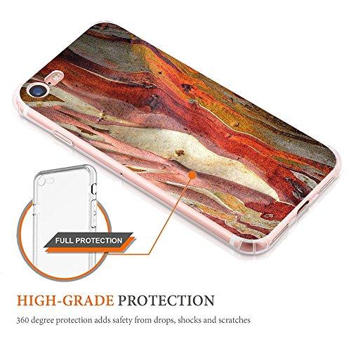 Coque pour Apple iPhone 7, Qissy® Ultra Slim TPU Case Marble Modèle simple Housse Silicone Extrême Souple Etui Gel Fine Arrière Couvercle casse créatif B
