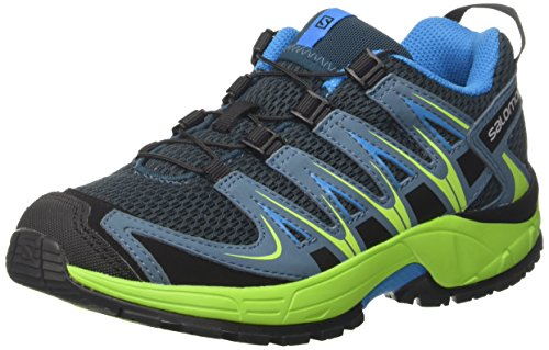 Salomon XA PRO 3D J, Scarpe da Trail Running Unisex-Bambini, Blu (Reflecting Pond/Lime Green/Hawaiian 000), 37 EU