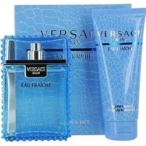 Versace Man Fraiche Eau De Toilette 100ml and Bath and Shower Gel 100ml Gift Set For Him