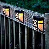 Wandmontage Solarbetriebene Lichter Wasserdichte Outdoor Solar Akzent Licht Gartenpfad Landschaft Zaun Yard Lampe Warmweiß 4pcs