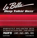La Bella Deep Talkin' Bass Flatwound- / Saitensatz für Bassgitarre aus Edelstahl