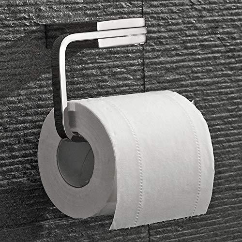 Velimax Premium in acciaio INOX porta carta igienica a parete in acciaio INOX porta rotolo moderno portarotolo di carta igienica per bagno, finitura cromata