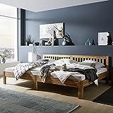 Ecolignum Familienbett™ Scala (#440270) | 270x200 cm. | Co-Sleeping Massivholzbett Eiche Vollholz | Geölte Oberfläche | Super-Size Bett