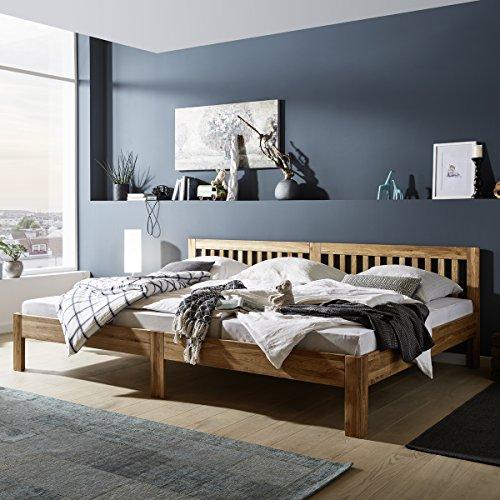 Ecolignum Familienbett™ Scala (#440240) | 240x200 cm. | Co-Sleeping Massivholzbett Eiche Vollholz | Geölte Oberfläche | Super-Size Bett