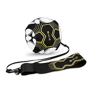 SKL Football Kick Trainer Soccer d'entraînement pour Enfants et Adultes Mains Libres Solo Pratiquer avec Ceinture élastique Corde Universel Compatible avec # 3 # 4 # 5 Ballons