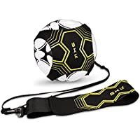 SKL Football Kick Trainer Soccer Training Aid for Kids and Adults Hands Free Solo Practice With Belt Elastic Rope Universal Fits #3#4#5 Footballs