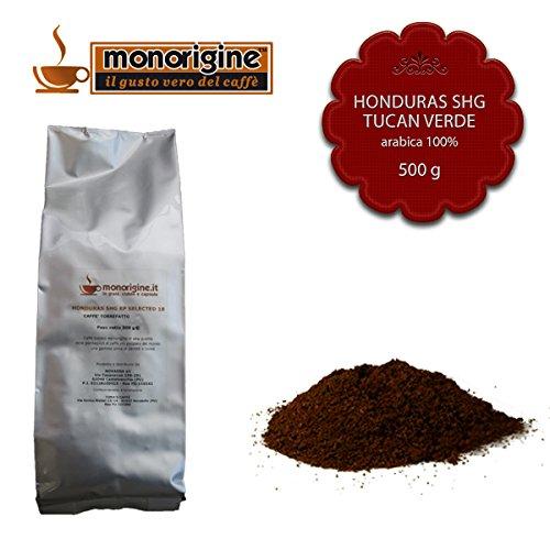 Caffè Arabica macinato fresco per moka Honduras SHG Tucan Verde 500 gr - Caffè Monorigine Arabica 100% - Caffeina Erbe Caffè