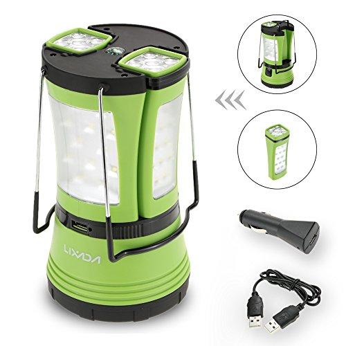 Lixada 10W 600LM LED Ricaricabile Ultra Luminoso Lanterna Campeggio 2 Staccabile Torcia Resistente All'acqua 360 Gradi Scantinati Luce della Tenda Portatile Garage Trekking Interni Esterni Usa