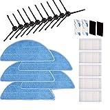 Accessori per Consumabili per ILife V3 V3S V5 V5S V5S Pro Robot Aspirapolvere Spazzola Laterale,Filtro,Panno Mop