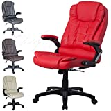 ITEM DESCRIPTION: •This listing is for a Luxury High Back Recline Office Chair. •K-8901 Red •Deep padding on seat & back cushions for extra comfort. •Made from quality PU material. •360 degree swivel. •Tilt and Lock mechanism. •Recline feature co...