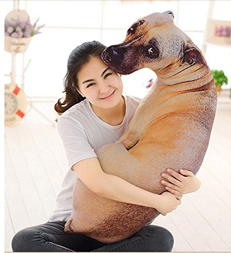 YunNasi Perro Almohada Forma de Perro 3D Realista Animal de Peluche Perro...