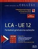 LCA-UE 12 - Formation générale à la recherche