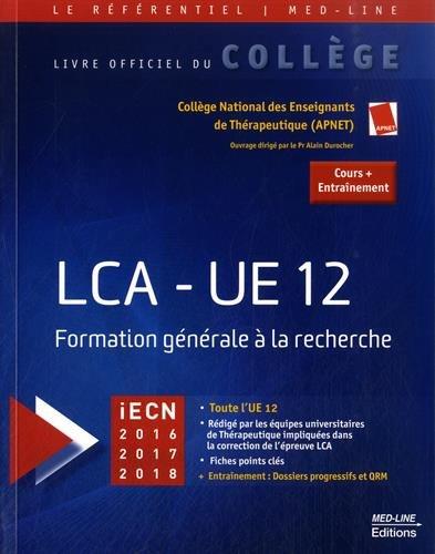 LCA-UE 12 : Formation gnrale  la recherche