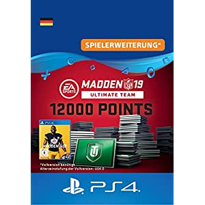 Madden NFL 19 Ultimate Team 12000 Points Pack – 12000 Points DLC | PS4 Download Code – deutsches Konto