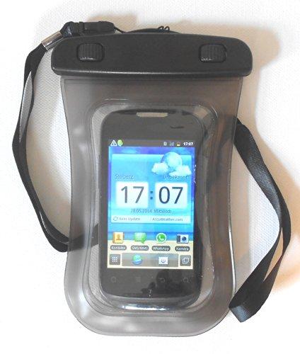 PRESKIN - Etui étanche de 4.5 pouces, Case / Téléphone portable universelle étanche smartphone de protection avec fonction d'écran tactile 4.5'' comme protecteur/ écran, protege et résistant à l'eau,  Beachbag4.5''Grey