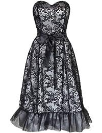 Lindy Bop 'Maisie' 1950's Classique Elégant Layered Devore Tulle Robe De Bal