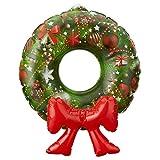 Preis am Stiel Weihnachtsdekoration Aufblasbarer Türkranz zum hängen | Türschmuck | Weihnachten | Xmas | Weihnachtskranz | Wanddeko | Wandschmuck