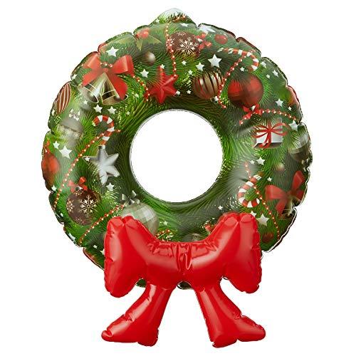 achtsdekoration Aufblasbarer Türkranz zum hängen | Türschmuck | Weihnachten | Xmas | Weihnachtskranz | Wanddeko | Wandschmuck ()