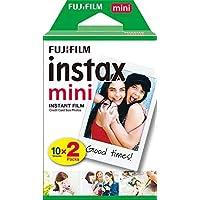 Fujifilm Instax Mini Film, Pellicola istantanea per fotocamere Instax Mini, Confezione da 20 foto, Formato foto 46 x 62…