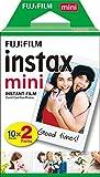 Fujifilm - Twin Films pour Instax Mini - 86 x 54 mm - 10 feuilles x 2 paquets = 20...