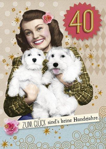 Postkarte A6 +++ LUSTIG von modern times +++ KEINE HUNDEJAHRE GOLD +++ BK.EDITION © Pigment Productions Ltd