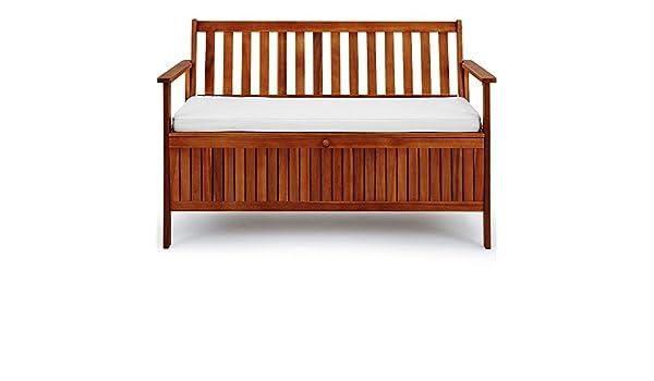 Amazon.de: SSITG Gartenbank 2in1 mit Sitzauflage Auflagenbox ...