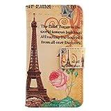 Lankashi PU Flip Leder Tasche Hülle Case Cover Handytasche Schutzhülle Etui Skin Für ZTE Nubia NX523J Z11 Max (Yellow Tower Design)