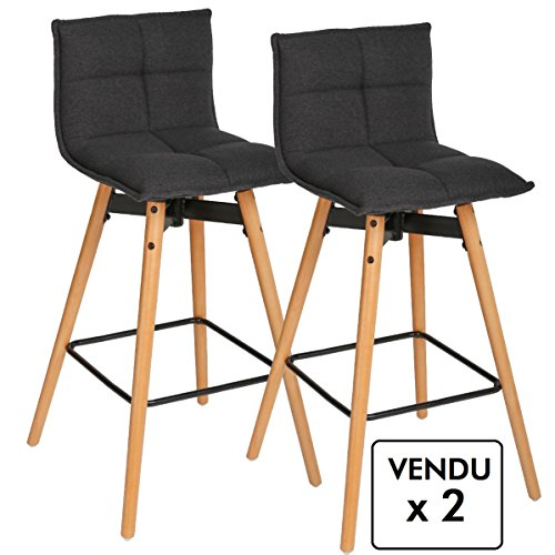 Lot-de-2-tabourets-de-bar-Style-design-Coloris-GRIS-Anthracite