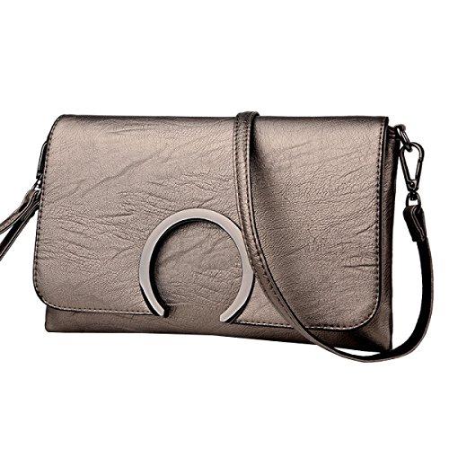 LAIDAYE Handtaschen-Damen-Tasche Kuriertasche Schultertasche Gold