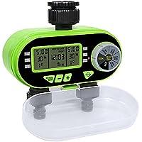 Aqualin magnético Válvula Riego Reloj con dos derrames Jardín automática electrónica Agua temporizador de riego para jardín patio