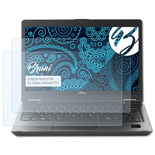 Bruni Schutzfolie kompatibel mit Fujitsu Lifebook P727 Folie, glasklare Bildschirmschutzfolie (2X)