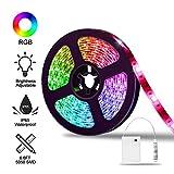 LED Strip, AUDEW 2M Tira LED RGB Stripe Luz a 3 AA...