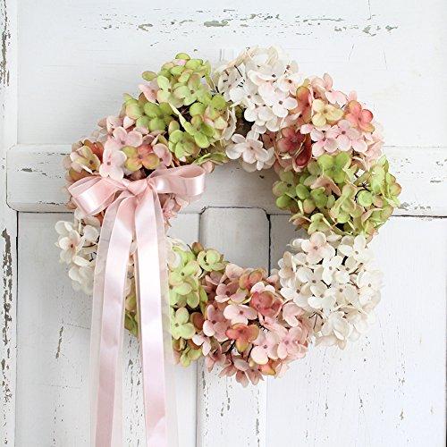 Zantec Simulieren Hortensie Kranz Garland Floriation hängende Anhänger Dekoration für Festival Hochzeit