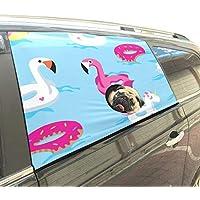 Brillante Flotador Unicornio o Flamenco en la Piscina Plegable Mascotas Perro de Seguridad Coche Impreso Valla