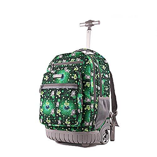 Zaino borsa trolley scuola in tela da viaggio libri...