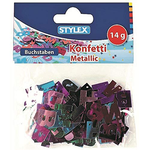 Stylex 14081-Confeti, Metallic Letras, 14g