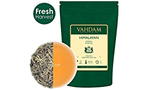 VAHDAM, Imperial White Tea Leaves from Himalayas (25 Cups) - World's Healthiest Tea Type - Powerful Anti-OXIDANTS, High Elevation Grown, White Tea Loose Leaf - Detox Tea & Slimming Tea, 1.76oz
