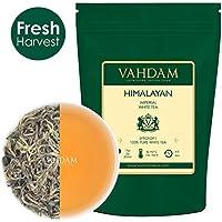VAHDAM, hojas de té blancas imperiales de Himalaya (25 tazas) - El tipo de té más saludable del mundo - POTENTES ANTIOXIDANTES, Cultivado a gran altura, Hojas sueltas de té blanco - Té desintoxicante y té adelgazante, 50gr