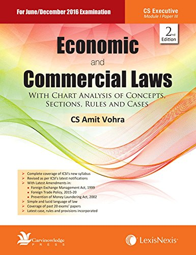 Economic And Commercial Laws– With Chart Analysis Of Concepts, Sections, Rules And Cases