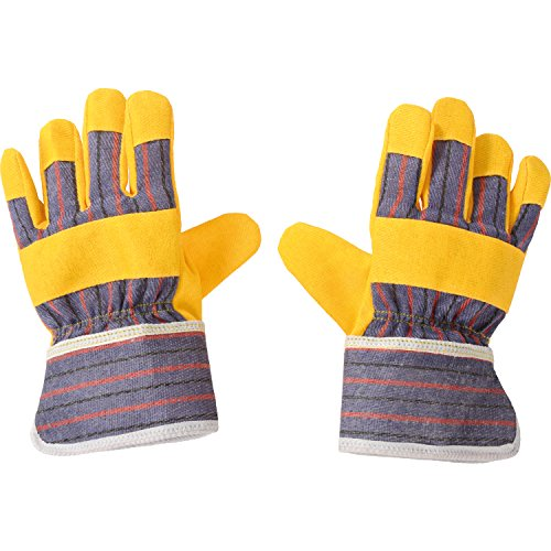 EDUPLAY 150110 Kinder Bauarbeiter-Handschuhe, gelb/blau/rot (1 Paar)