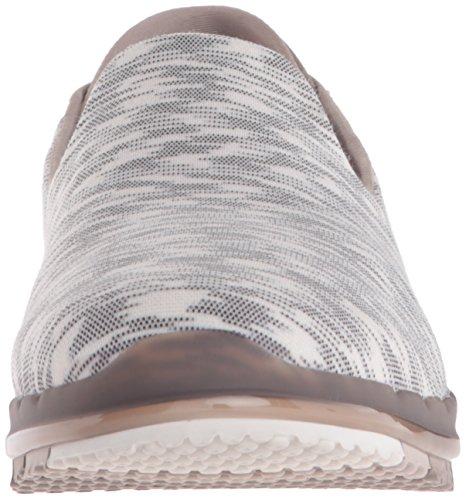 Skechers Go Flex, Baskets Basses Femme, 36 EU Taupe/White/Multi