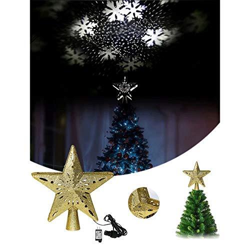 Toppers de árboles de Navidad iluminados Proyector de luz de ...