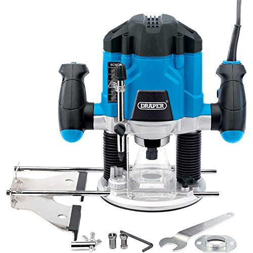 "Elite Choice Draper XS17-20507 Variable Speed Electric Plunge Router 1/4"" & 5/16"" Collets 1200w 240v (1) - Min 3yr Warranty"
