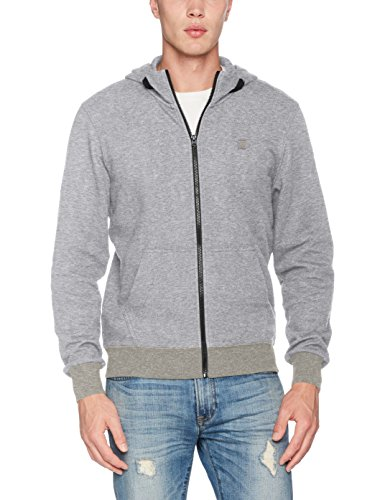 G-STAR RAW Herren Core Hooded Zip Sw L/S Kapuzenpullover, Grau (Grey Htr 906), Small -