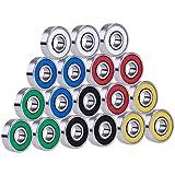 Xhuan 18 Pièces 608 2RS Roulements à Bille Remplacement pour Hand EDC Toy, Multicolor