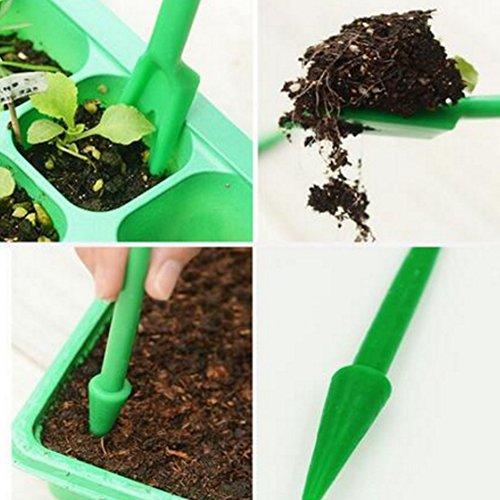 runfon foraterra widger in plastica con giardino piantina strumenti fairy garden plant care 2pcs